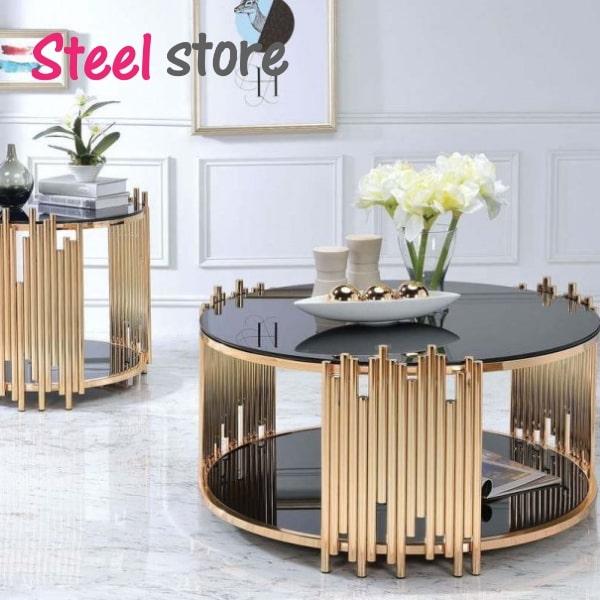 کارگاه میز جلو مبلی استیل